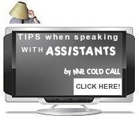 Tip when speaking with assistants